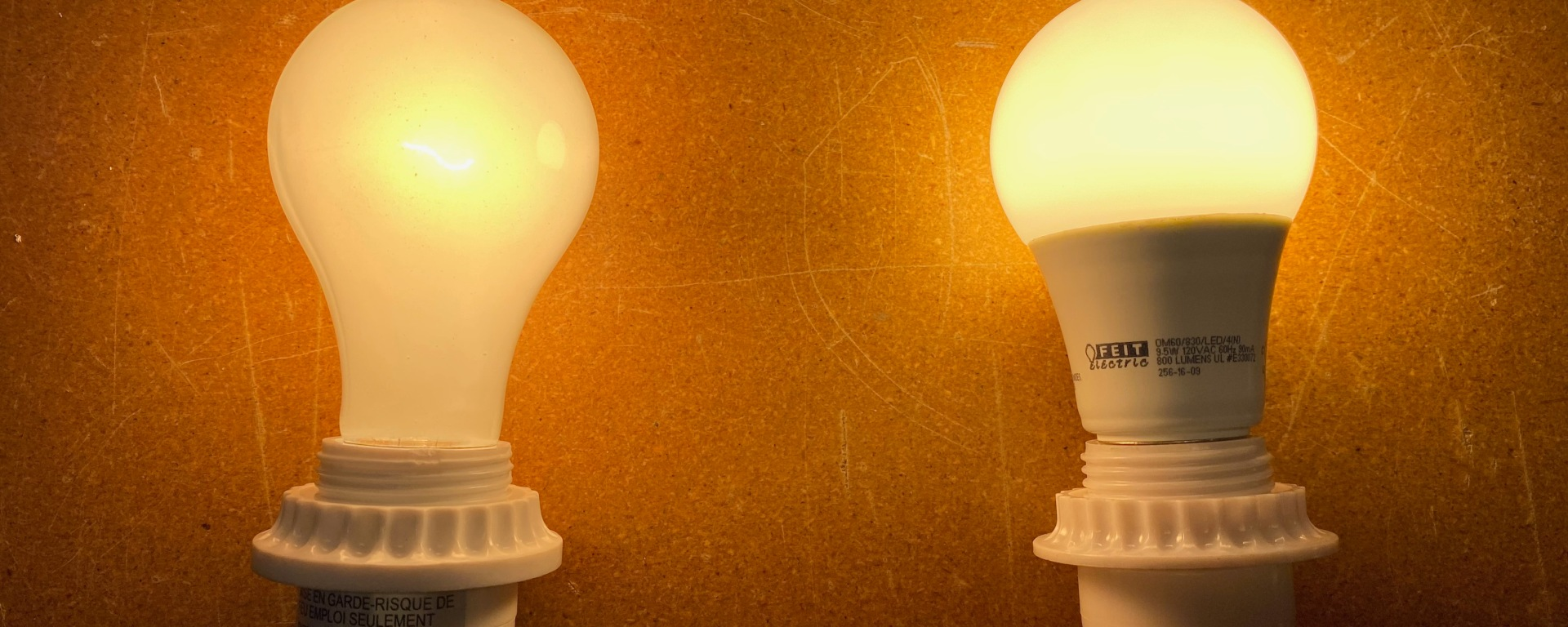 Comparing incandescent and LED